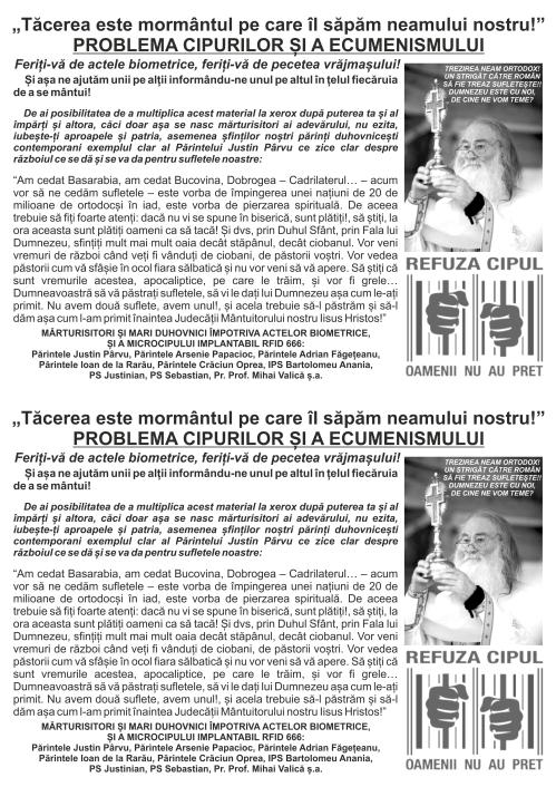 PROBLEMA CIPURILOR SI A ECUMENISMULUI - flyer A5 - 2 buc pe A4